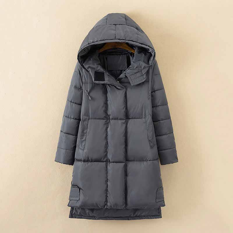 Plus Size 5XL Women Clothing Winter   Parkas   Thick Down Cotton Jacket 2018 New Hooded Cotton Warm Outwear Female Basic Coats AA358