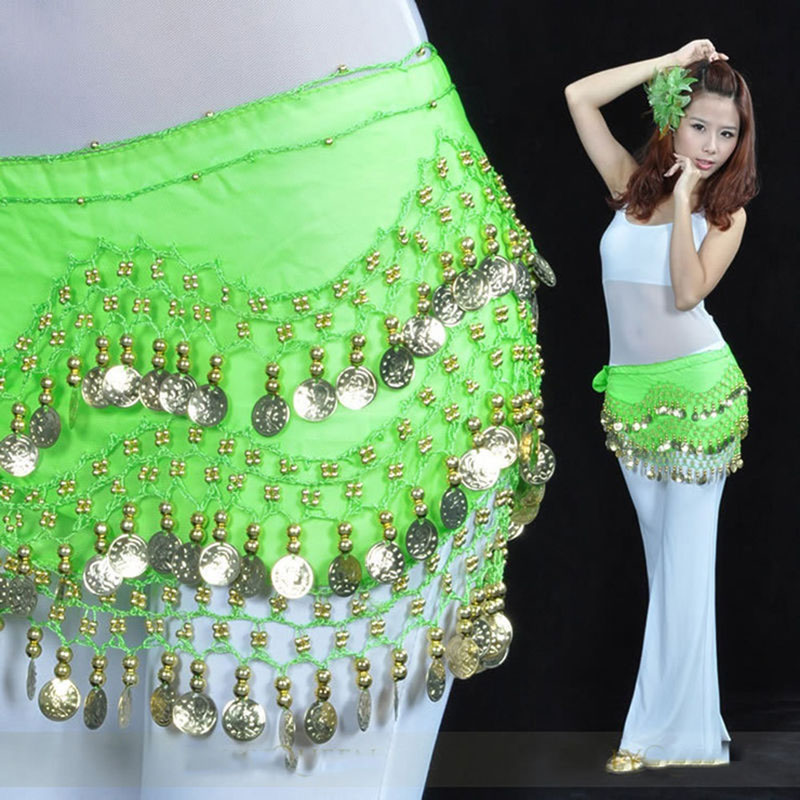 New Belly Dance Waist Chain Costume Coins Skirt Belt Hip Wrap Professional Stage Clothing Girls And Women Dance Wear CC9342