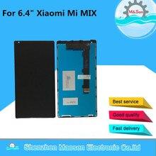 """M & Sen Für 6,4 """"Xiaomi Mi Mix/Mi Mix Pro 18 karat version Lcd display + Touch panel digitizer mit rahmen schwarz freies verschiffen"""