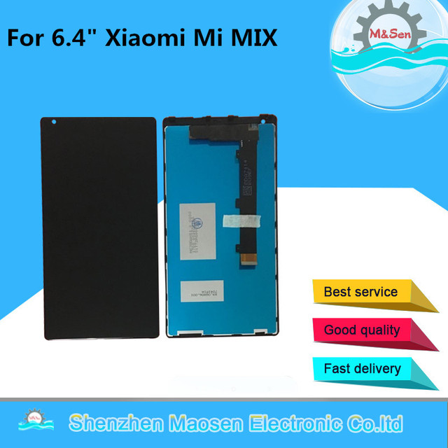 "M&Sen For 6.4"" Xiaomi Mi Mix /Mi Mix Pro 18k version  Lcd screen Display+Touch panel digitizer with frame white/black free ship"