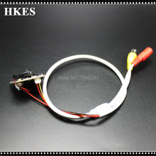 HKES Wholesale 8pcs/lot HD 1280*720P Indoor CCTV Mini AHD Camera module with BNC Cable and 3.7 mm lens