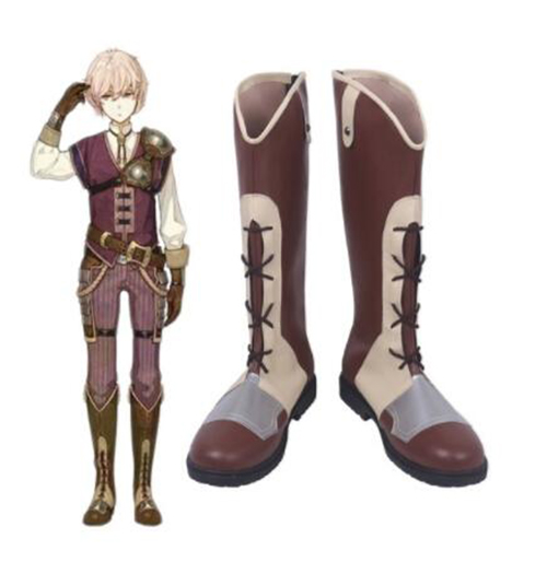 Fire Emblem Echoes Shadows of Valentia Klif Cosplay Costume Boots Shoes Halloween Party Custom Made for Adult Shoes Accessories