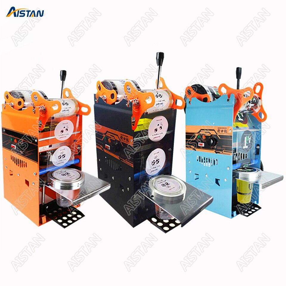 WY802F Manual Do Copo Máquina de Selagem Chá Da Bolha de Plástico ou de Papel Copo Aferidor 220 V 110 V