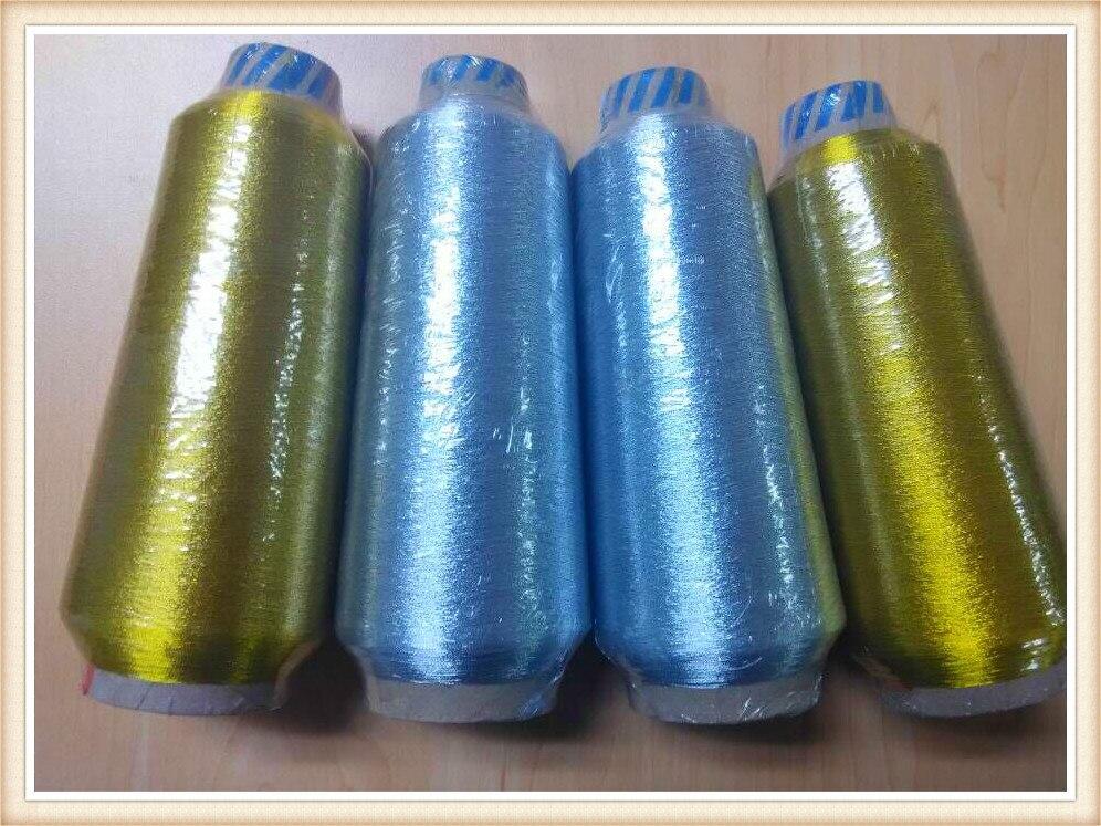 MS Or et Argent Glitter Fil Métallique Fil Filament Pour La Broderie, à tricoter, 3500 m * 4, 100g Chaque Bobine Livraison Gratuite