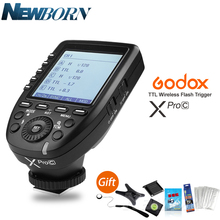 In Stock New Arrival Godox E TTL II 2.4G Wireless X system High speed with Big LCD Screen Transmitter Xpro C For Canon
