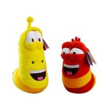 2 pc/par larva brinquedos de pelúcia amarelo inseto vermelho quente dos desenhos animados larva brinquedos recheado boneca g0370