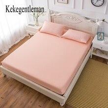 Простыня по размеру матраса крышка со всем вокруг эластичной резинкой кровать застежки для простыни постельное белье сплошной цвет