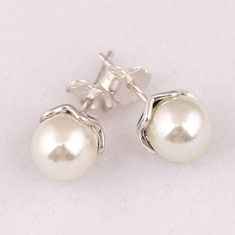 87cc8bd2d Buy pandora pearl earrings for women and get free shipping on AliExpress.com