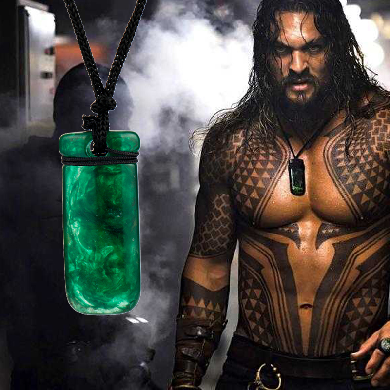 Aquaman Necklace Cosplay Jewelry Handmade Resin Rope Pendant Necklace Men Accessories Gift