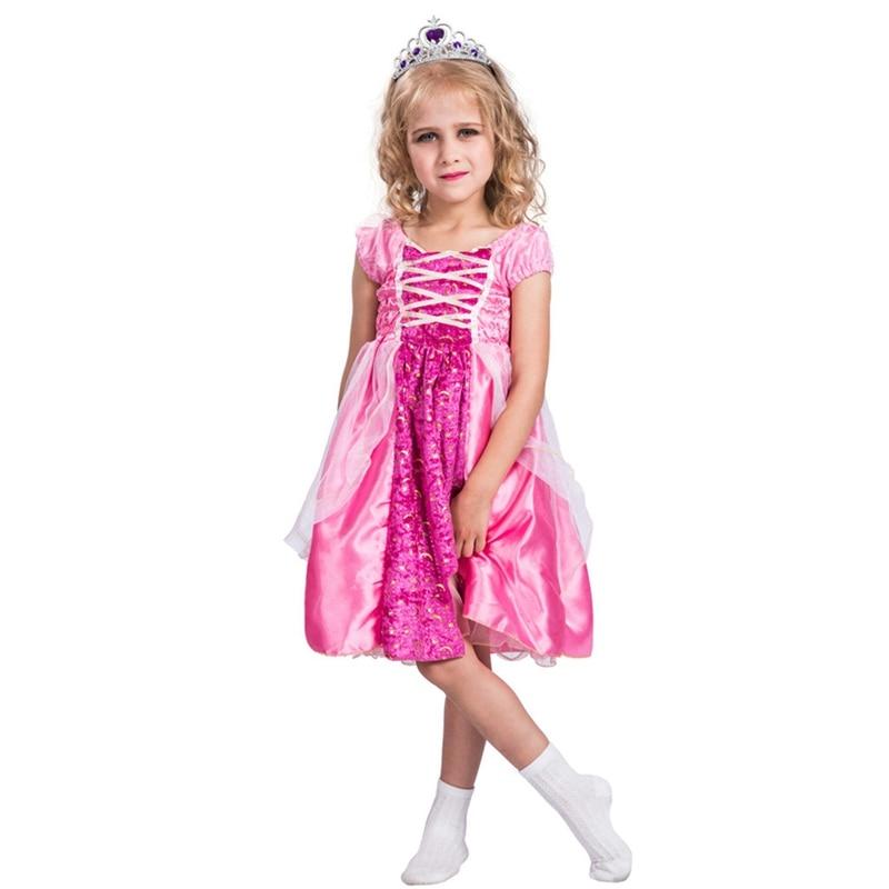 Girls Pink Starry Princess Halloween Costume
