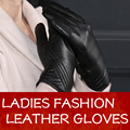 New Design High Quality Women Black Leather Gloves Supper Soft Lined Gloves Size M-XXL