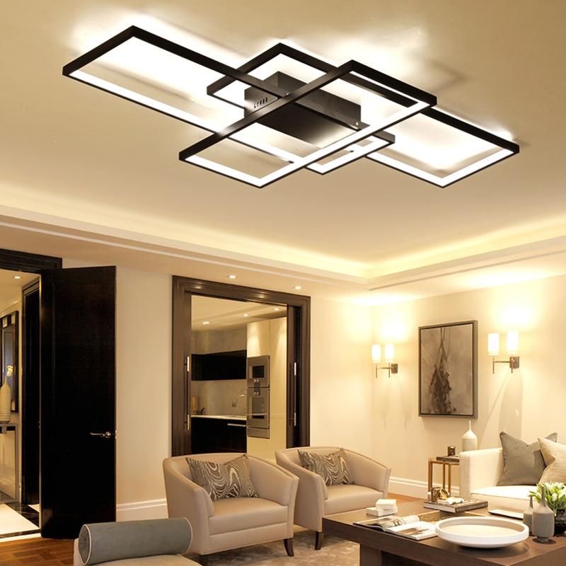 NEO Lueur Nouvelle Arrivée Moderne led plafonniers pour le salon chambre salle à manger luminarias led Noir ou Blanc plafond lampe