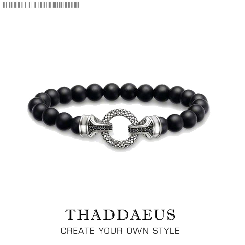 Black Onyx & Silver Clasps Bracelets,2017 Beads Heart Super Deals Gift In Silver,Thomas Style Rebel Jewelry,Gift for Men & Women все цены