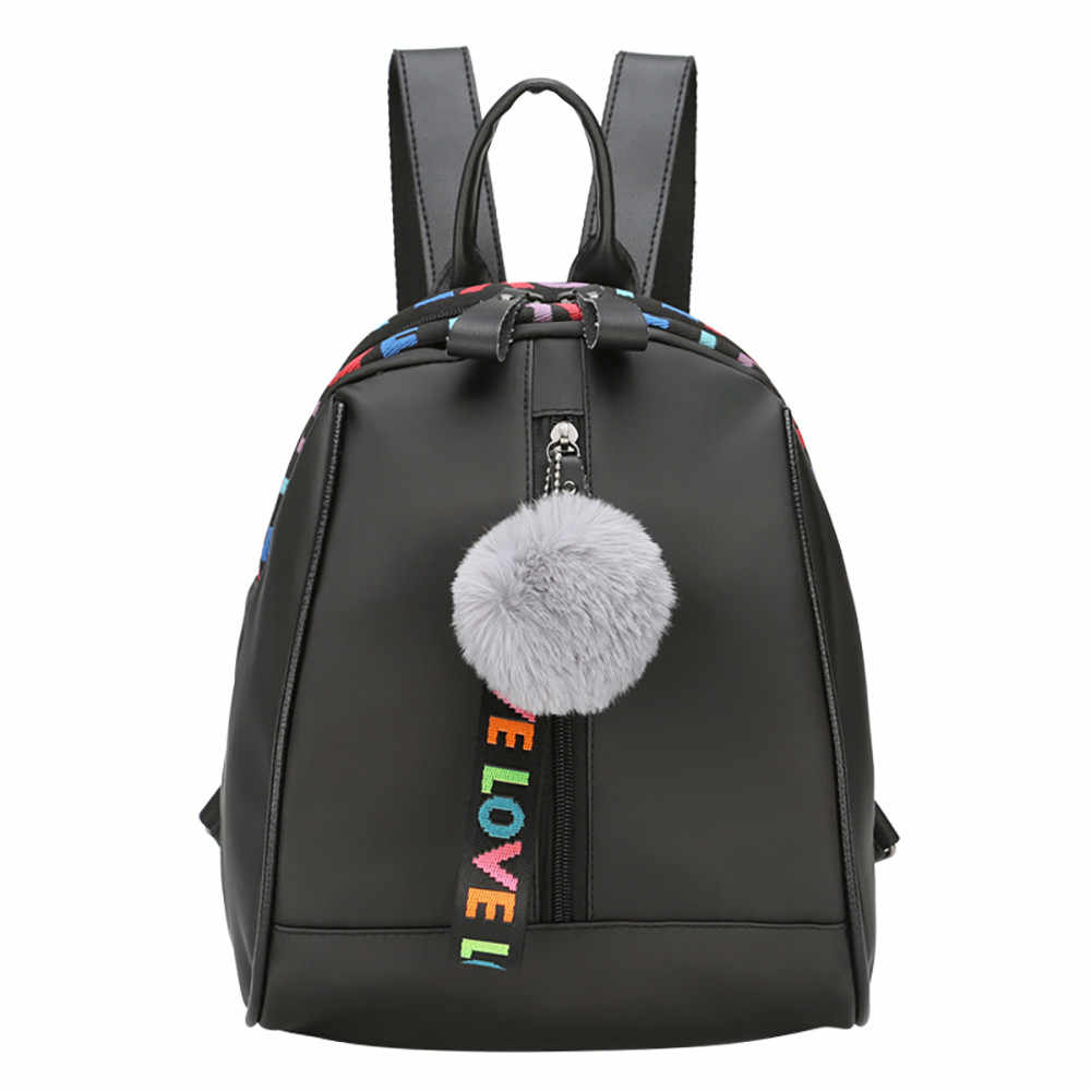 67a2024b51 Detail Feedback Questions about OCARDIAN Backpack Hairball Backpack Love  Print Leather Travel Casual Shoulder Backpacks With Outdoor Bag Black  Rucksack ...