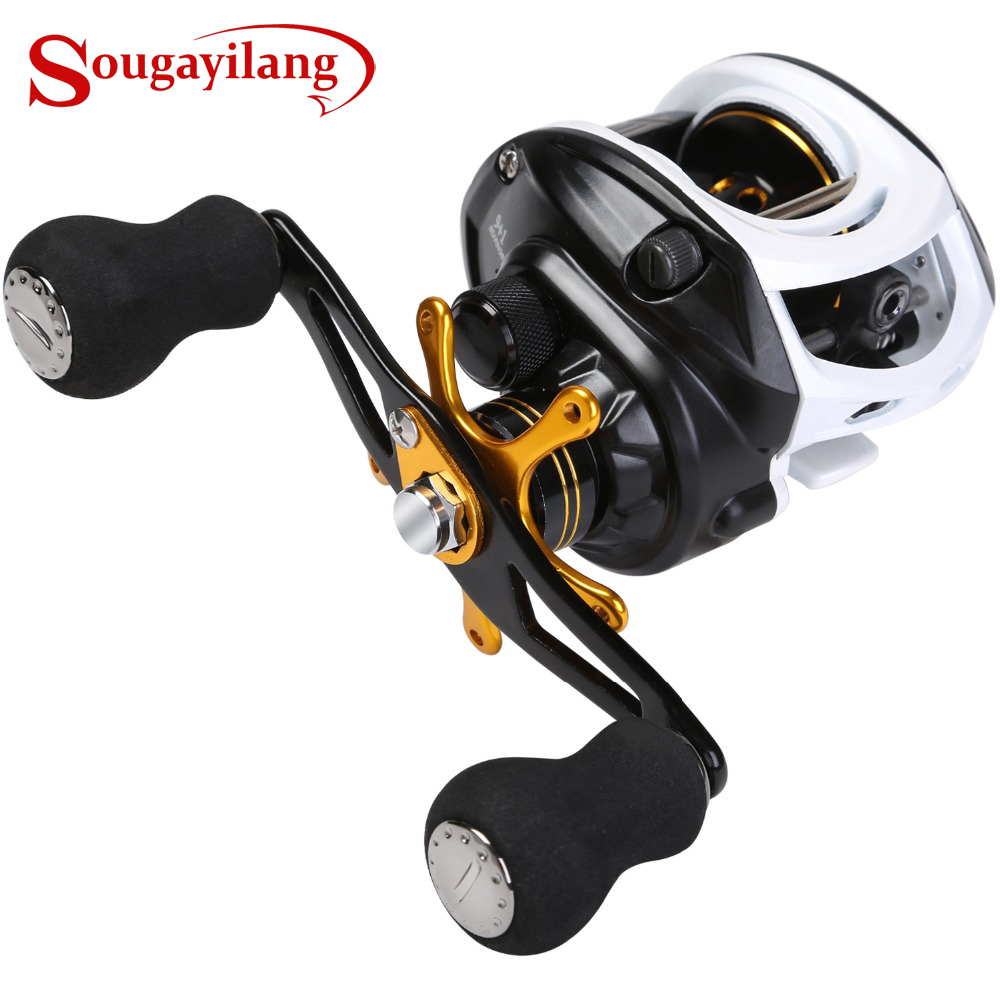 Sougayilang Baitcasting Fishing Reel 9 + 1BB High Speed ​​7: 1 Gear Ratio Wheel Wheel Full Metal Water Drop Wheel Drum Trolling Reel