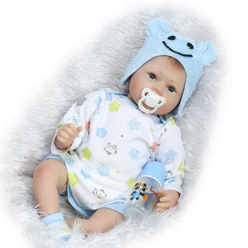 Kawaii, 22 дюйма, кукла для близнецов, силиконовая кукла-Реборн, 55 см, BeBe Reborn, Реалистичная кукла для детей, подарок на день рождения, Brinquedos