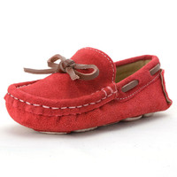 Kids Girls Shoes Toddler Boys Loafers Boat Shoes Spring Autumn Slip on Children Peas Flats Soft Leather Baby Shoes for Girls
