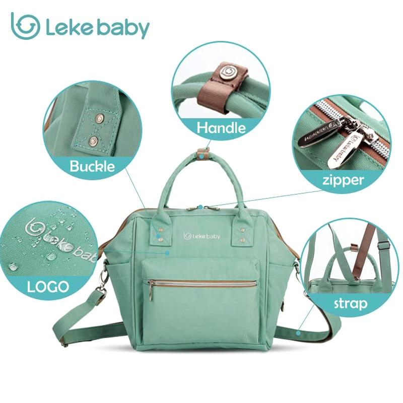 2018 Lekebaby 3 in 1 Baby Diaper bag travel organizer backpack Nappy Bags For Mom mother tote handbag Maternity Bag for stroller