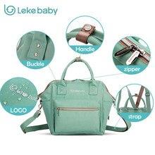 7bbdbe11e Lekebaby 3 em 1 Do Tecido Do Bebê saco de Maternidade Saco bolsa  organizador da viagem mochila Sacos de Fraldas Para A Mamã tote.