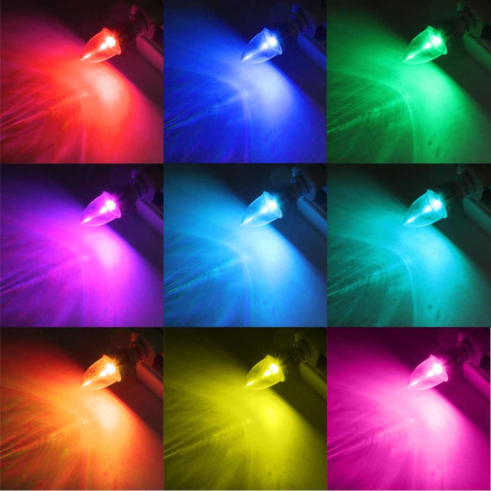 3 W RGB LED Lilin Lampu Lampu Warna Berubah dengan Remote Control untuk Rumah MAL999