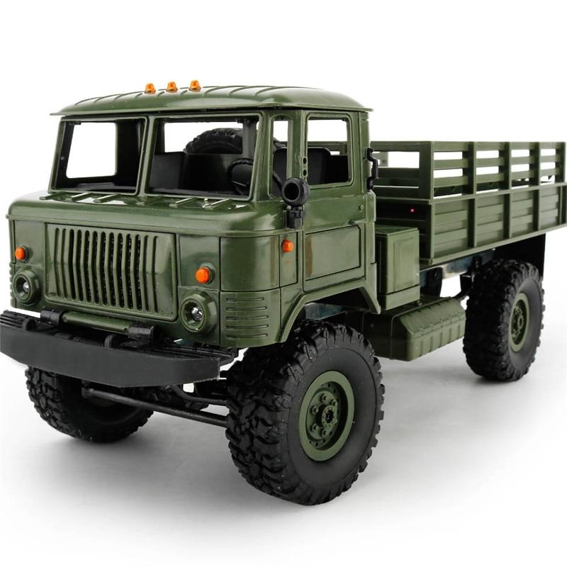 Mini 2.4G 4WD tout-terrain RC voitures tout-terrain voiture de course RC véhicules RTR cadeau jouets pour enfants bricolage 1:16 RC escalade camion militaire