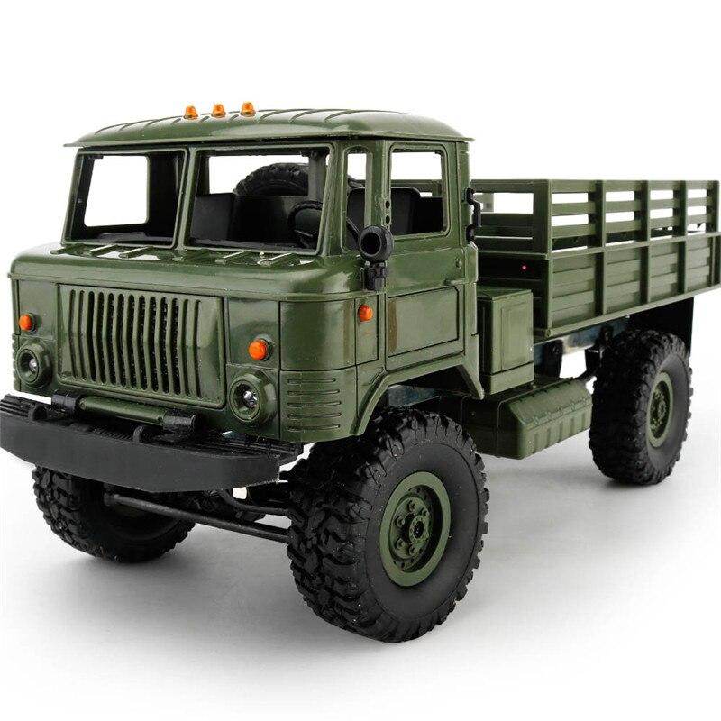 Mini 2.4g 4WD Off Road DO RC Carros de Corrida Off Road Do Carro Veículos RC RTR Brinquedos de Presente Para crianças DIY 1:16 RC Escalada Caminhão Militar