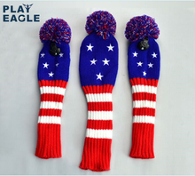 3pcs/set New 1#3#5# Knit Golf Headcover Drvier Fairway Head Cover Stars Shape Golf Headcovers with Number Tag