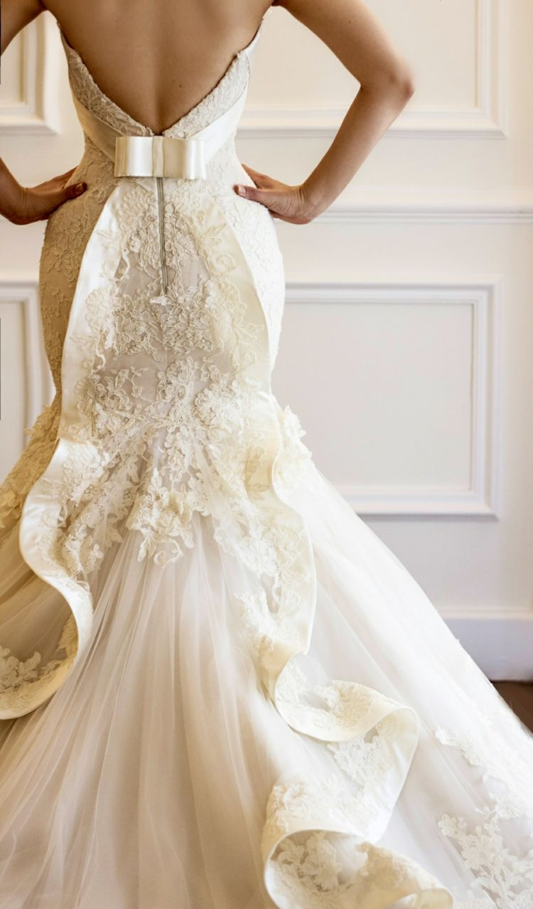 Low Back Mermaid Wedding Dress - Wedding Dress Ideas