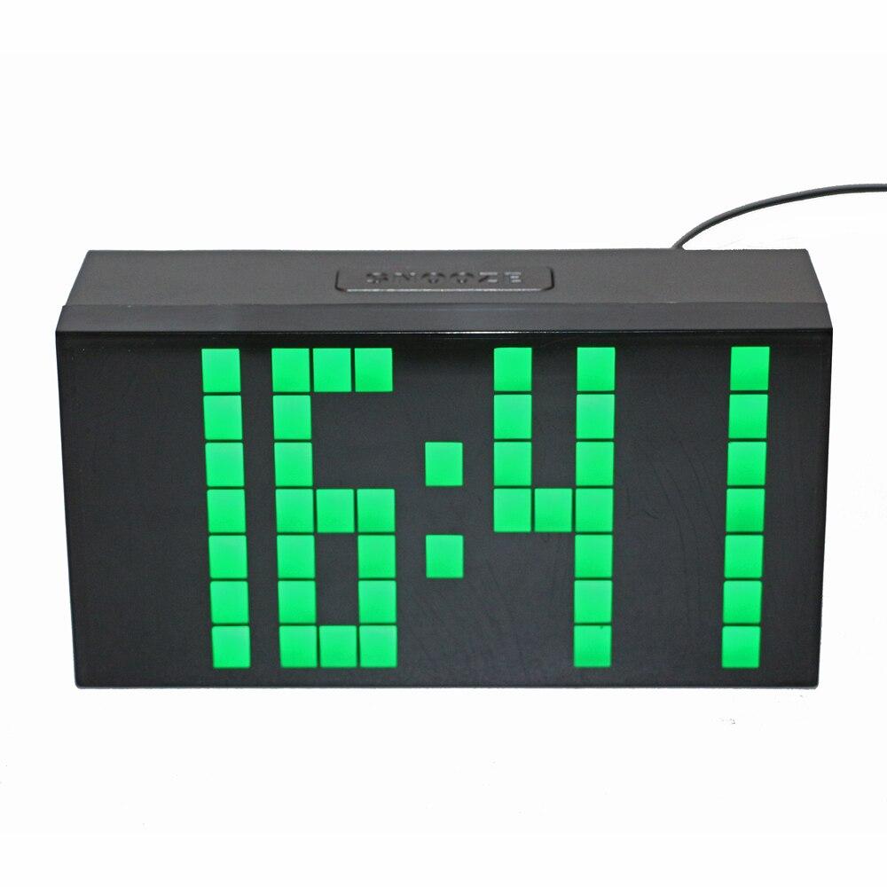 Desktop Digital Alarm Clock Countdown LED Clock 3 inch Tall Digits Large Display with Temperature Calendar Date Wall Mount