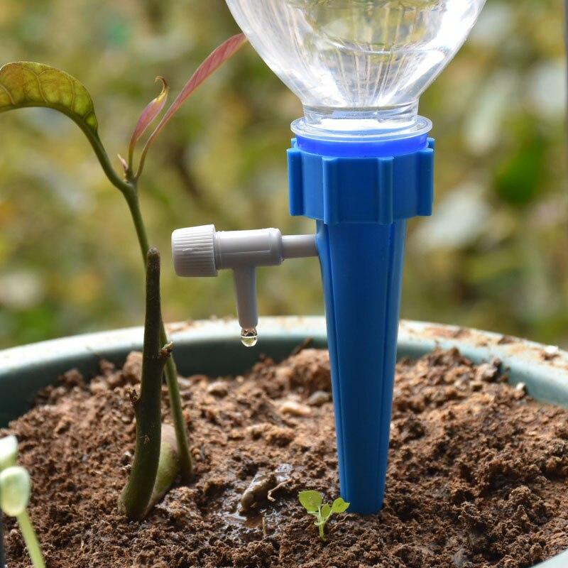 Sistema de irrigação por gotejamento planta waterers diy picos de água por gotejamento automático atarraxamento plantas rega casa automática 1pcs