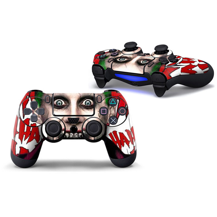 The Joker Skin Sticker Decal Vinyl For Sony PS4 Pro Slim Play Station 4 Game Controller for Dualshock 4 Game Skins Stickers 2pcs