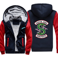 South Side Serpents Hot New Men's Thick Hoodie Riverdale Jacket Men's Jacket Jughead Jones Archie Andrews Men's Winter Outfit