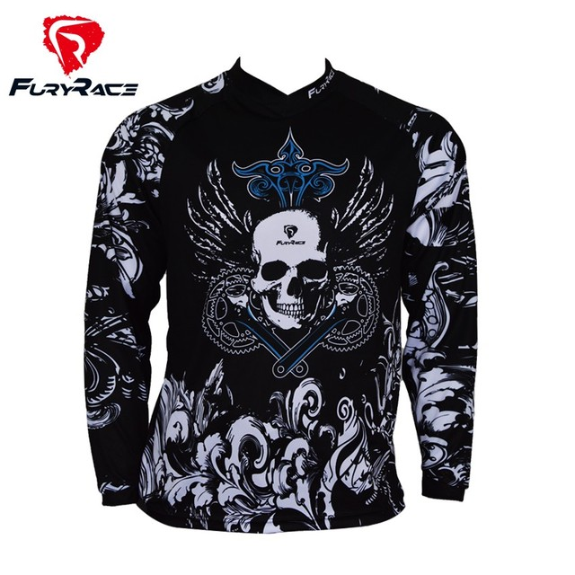 2018 Men s Skull Mountain Bike Jersey Cycling Maillot Men MTB BMX MX Clothes  Motocross Motorcycle Bicycle ef6ca28ec