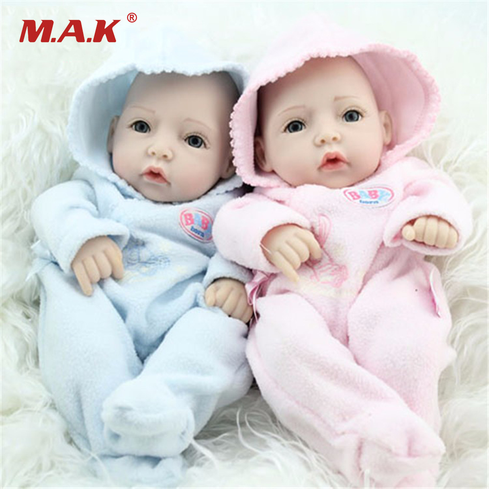 11 Inches Baby Dolls Reborn Babies Full Silicone Realistic Doll for Children Toys Birthday Gift