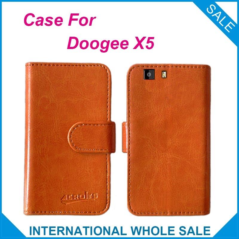 Varm! 2016 DOOGEE X5 Väska Högkvalitativ ny stil läderfodral för - Reservdelar och tillbehör för mobiltelefoner - Foto 2