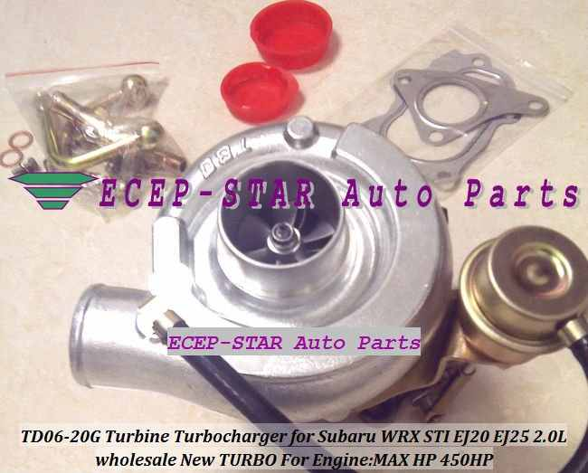 NEW TD06 20G TD06-20G Turbo Turbine Turbocharger For SUBARU Impreza WRX STI Engine: EJ20 EJ20T EJ25 2.0L MAX Power 450HP