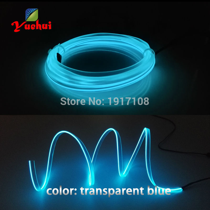 DC-3V 10 Color Select 2.3mm-skirt 1Meter EL Wire Tube Rope Battery Powered Flexible Neon Cold Light Car Glow Party Supplies