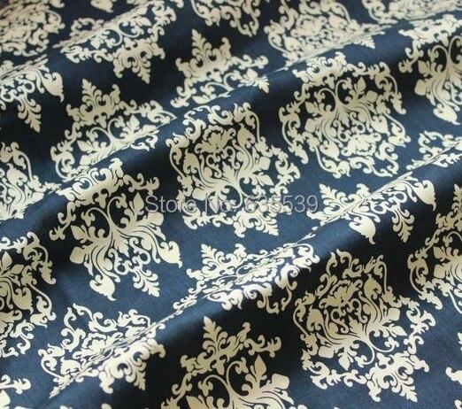 200x148cm vintage barok blauw 100 % katoenen stof voor gordijn ...