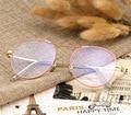 Nueva Moda Retro Estilo de la Superestrella de Aleación Ronda Gafas de Marco Hombres Mujeres Oculos Montura de Gafas Anteojos Ópticos Gafas de Equipo