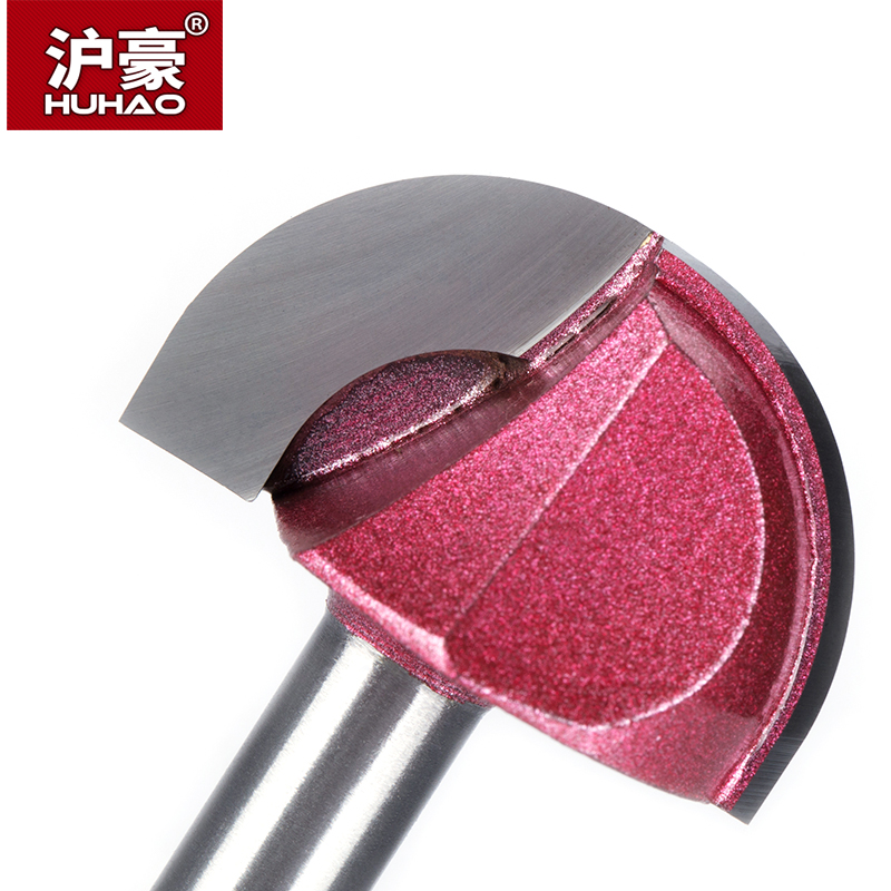 Купить с кэшбэком HUHAO 1pcs 8mm Shank round Router Bits for wood cove box bit Tungsten Carbide Woodworking endmill miiling cutter