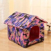בית כלב רך מתקפל נייד אופנה חדשה חם הוכחת גשם חמוד כלב מלונה מיטת מזרן כיסוי נשלף חם הפעלה קלה מכירה