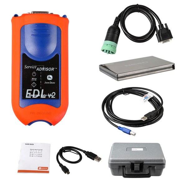 Service Advisor Edl v2 with john Deer diagnostic kit Electronic Data Link tool