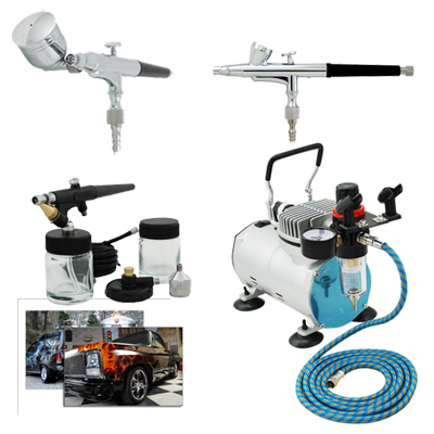 Professional Airbrush Kits with Air Compressor TC-20B & Air Hose