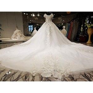 Image 4 - AIJINGYU 2021 فاخر كريستال تألق الماس الزواج جديد حار بيع ثوب الخامس الرقبة فساتين العروس الرسمية فستان الزفاف WT173
