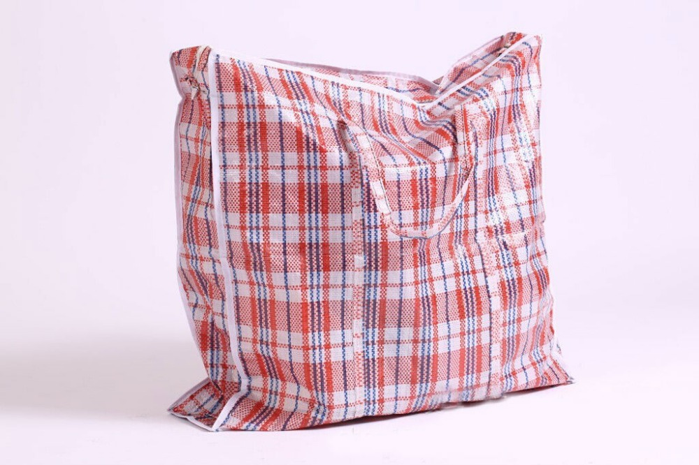 Whole Large Woven Plastic Laundry Storage Ping Bag With Zipper Groceries Bags Free Shipping In From Home Garden On