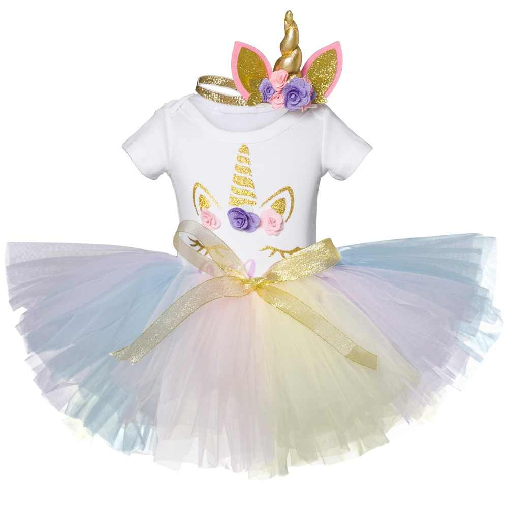 462ae6851fd5e Baby Girl First 1st Birthday Party Tutu Dresses For Vestidos Infantil  Little Princess Outfits 1 Year Girls Baptism Costume 2018