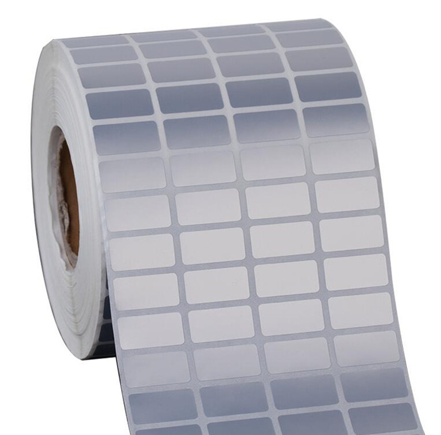 Silver Pet Sticker 40*15mm 1300pcs Thermal Transfer Silver PET Label Waterproof