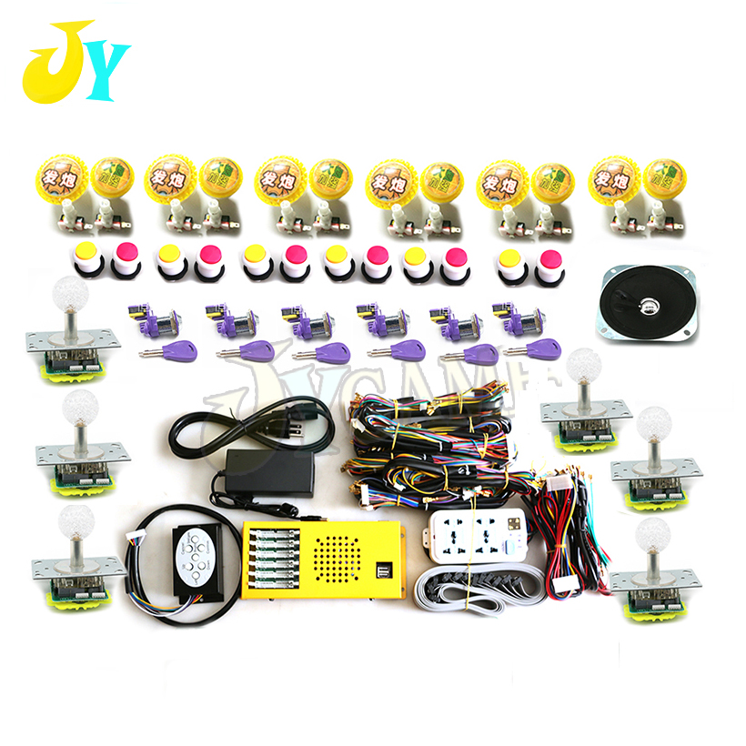 4 players 6 players fishing game kit Multi game PCB board led joystick push button wires