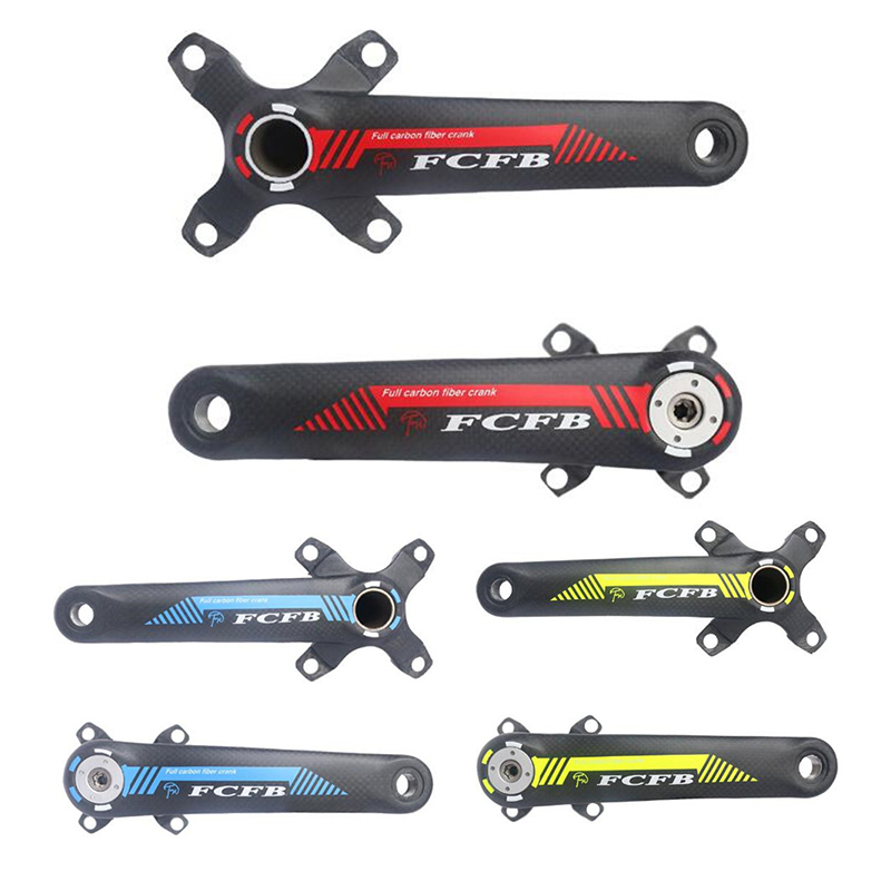 Carbon Fiber Cycling Bicycle Crank MTB Road Bike Crankset Length 170mm/175mm BCD 104/64mm Ultra-light Mountain Bike Parts купить