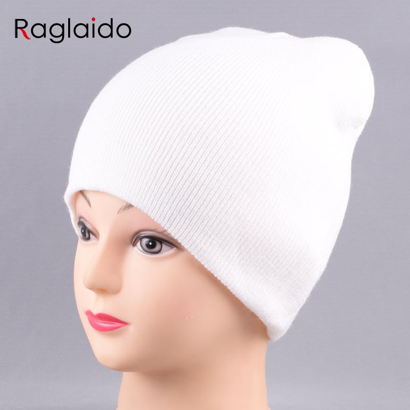 Skullies Beanies For Men Women Unisex Spring Double Layer Warm Hats Cotton White Black Headwear Autumn Knitting Hat  LQJ01319